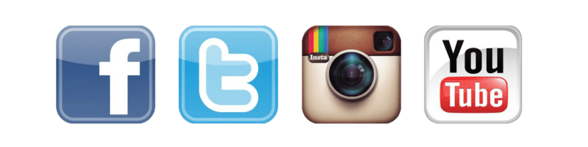 social media icons big border png